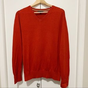 Banana Republic Orange V Neck Men's Sweater